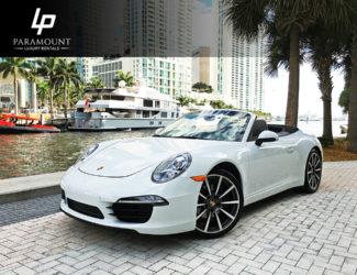 White Porsche 911 Cabriolet-Front